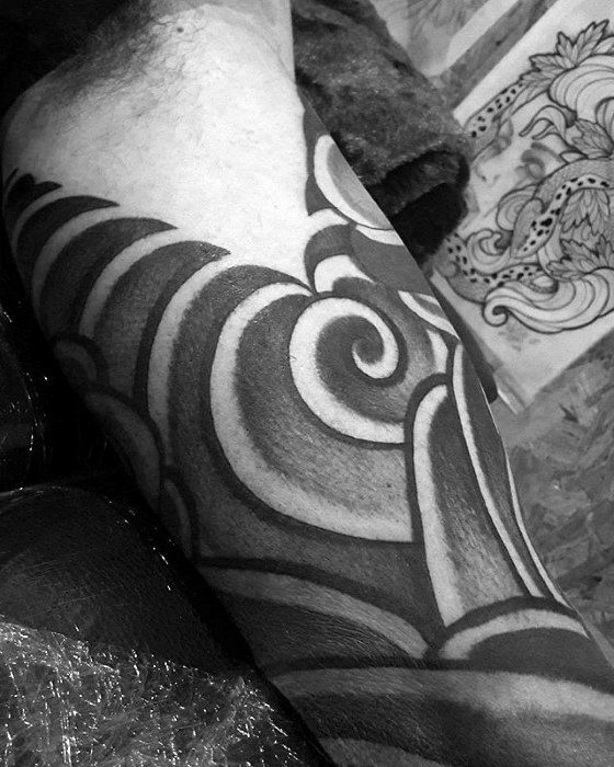Detailed Traditional Guys Japanese Cloud Arm Tattoo