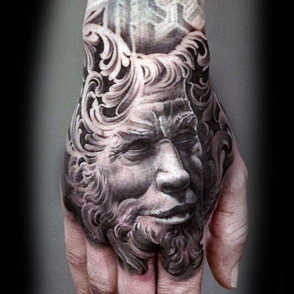 Devil Hand Mens 3d Tattoos