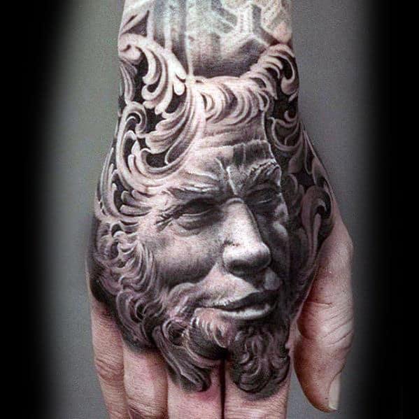 Devil Hand Mens 3d Tattoos