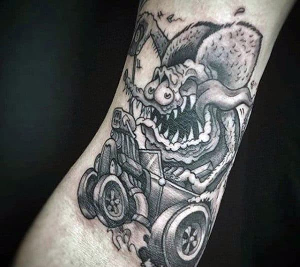 70 hot rod tattoo designs for men automobile aficionado ideas. Black Bedroom Furniture Sets. Home Design Ideas