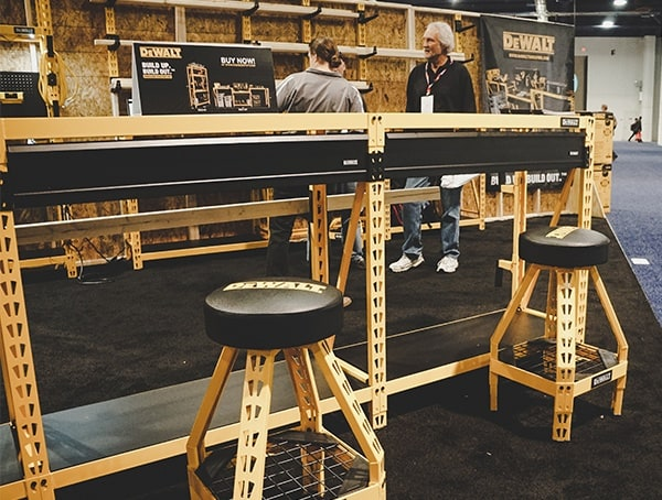 Dewalt Workstation With Seating 2019 Nahb Show Las Vegas