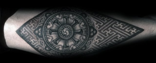 Dharma Wheel Tattoo Designs For Men