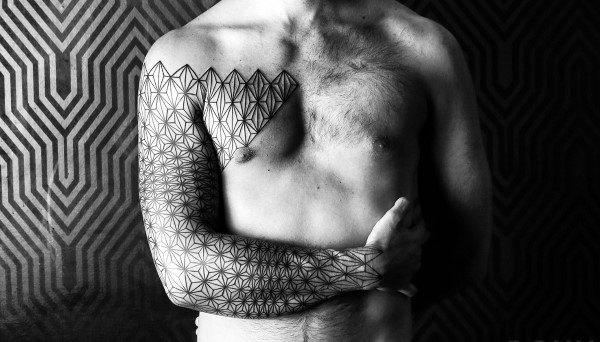 Diamond Shaped Sacred Geometry Mens Tattoos On Arm