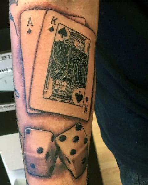 Dice And Card Tattoos For Men