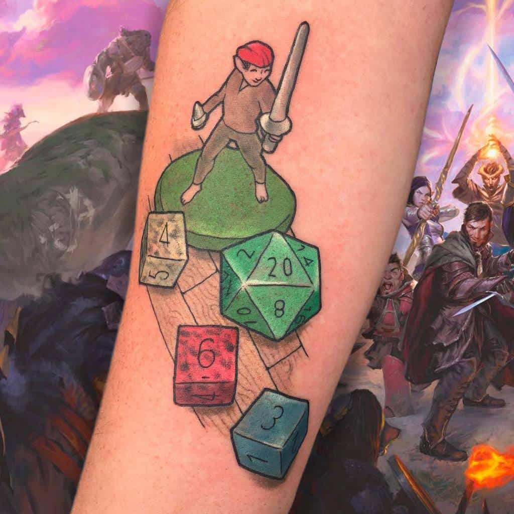 Dice Dungeons And Dragons Tattoos Crashing.cadence