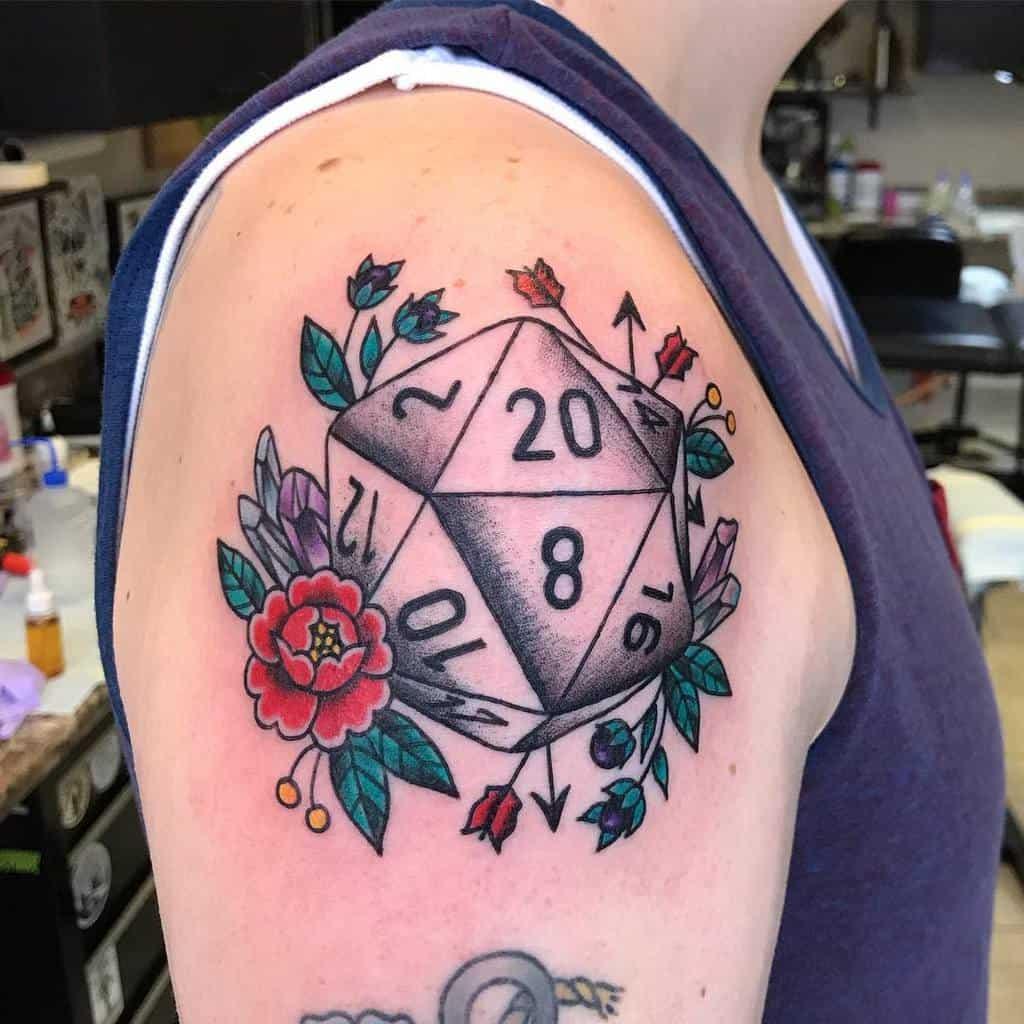 Dice Dungeons And Dragons Tattoos Jennifertroktattoos 2
