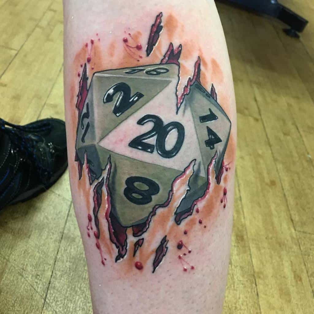 Dice Dungeons And Dragons Tattoos Mayhemtattoos