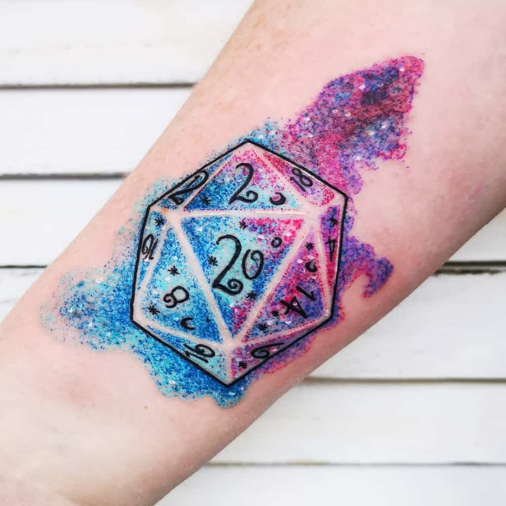 Dice Dungeons And Dragons Tattoos Riversofinktattoostudio