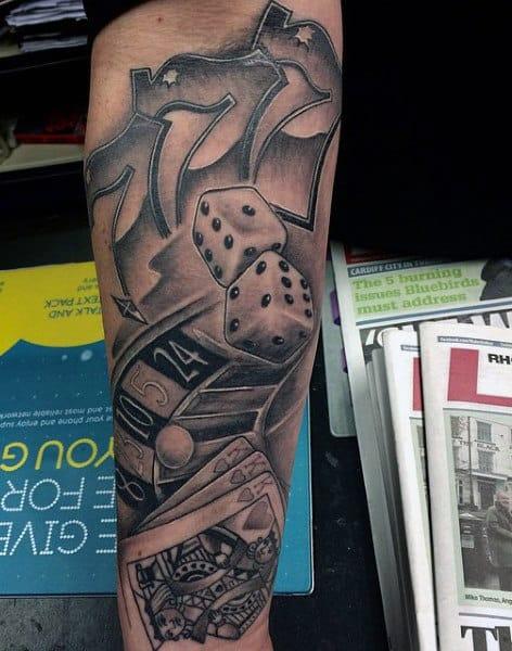 Dice Tattoos Designs For Men