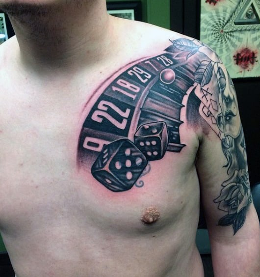 Dices Tattoo For Males