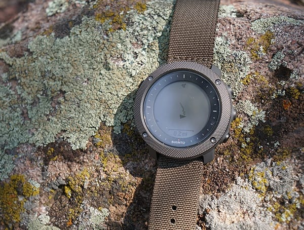 Digital Mens Hunting Watch Suunto Traverse Alpha With Foliage Strap