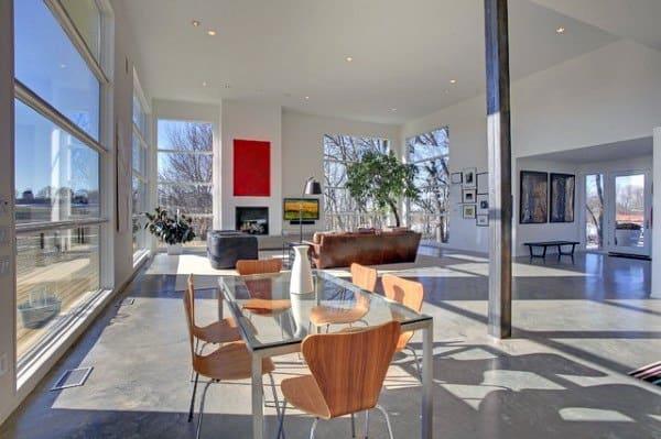 Dining Area Concrete Floor Ideas