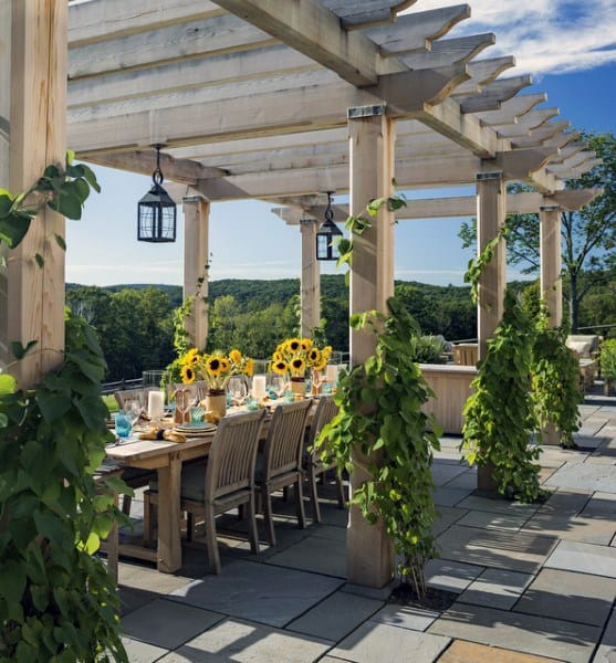 Dining Area Pergola Ideas