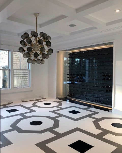 Dining Room Excellent Interior Ideas Painted Floor