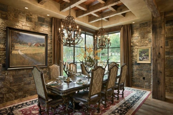 Dining Room Ideas With Rustic Design
