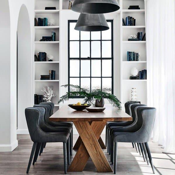 Dining Room Modern Floor To Ceiling Bookshelves Designs