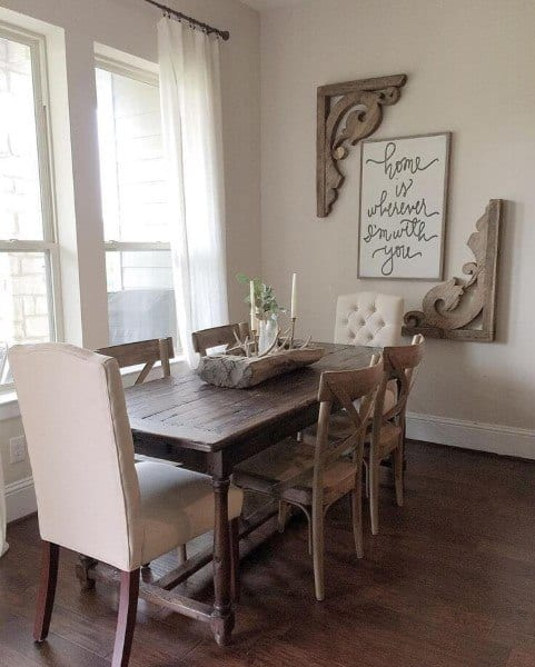 Best Dining Room Colors: Top 40 Best Rustic Dining Room Ideas
