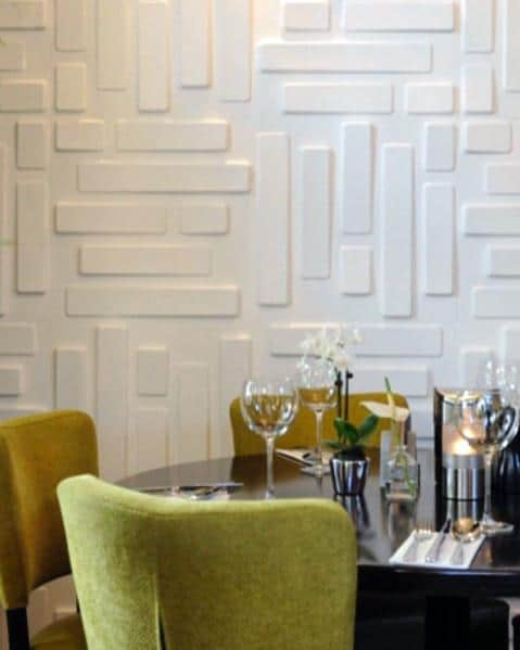 Dining Room White Luxury Textured Wall