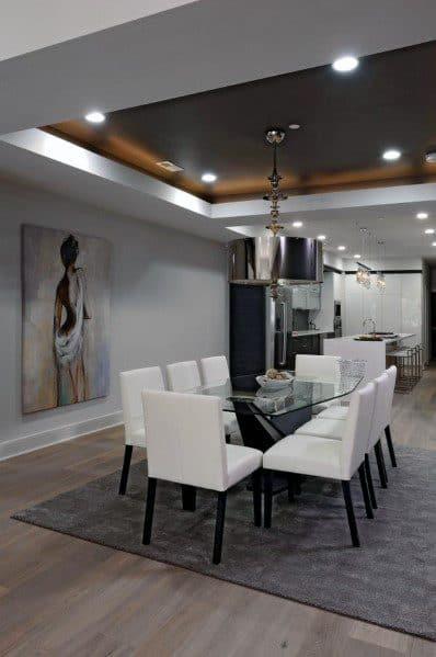 Dining Rooms Home Interior Designs Trey Ceiling