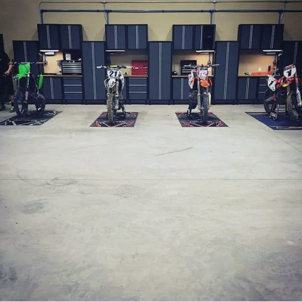 Dirt Bike Mens Dream Garage Ideas