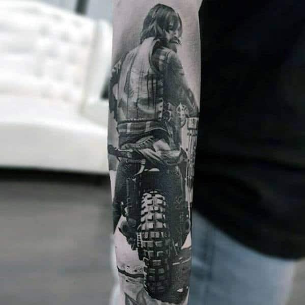 Dirt Bike Mens Greatest Tattoo