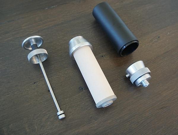 Disassembled Katadyn Pocket Water Filter