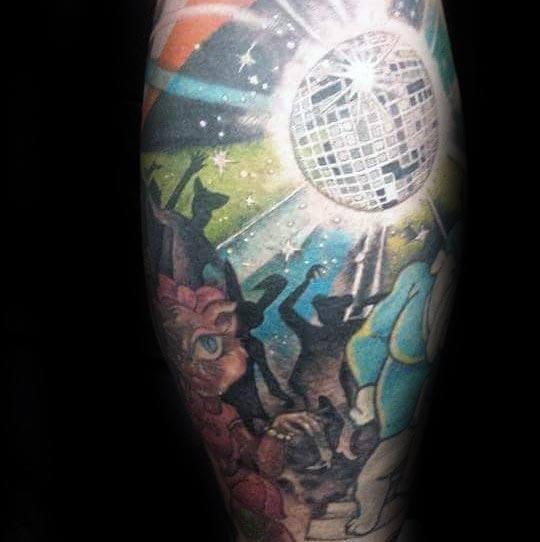 40 Disco Ball Tattoo Ideas For Men Groovy Designs
