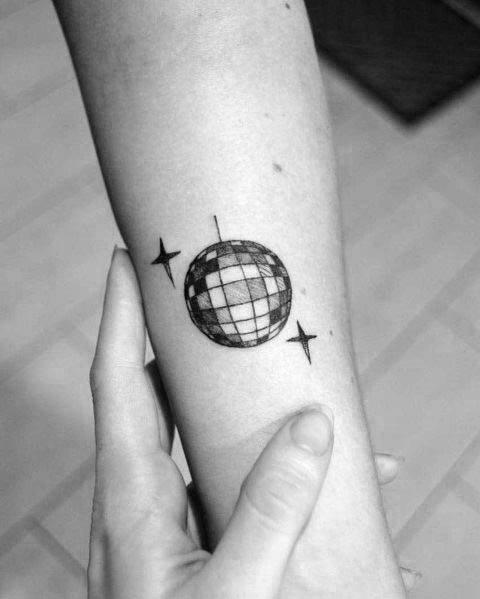 Disco Ball Tattoos For Men