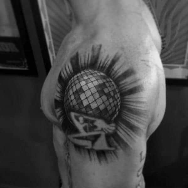 Disco Ball Themed Tattoo Ideas For Men