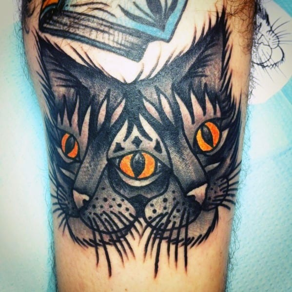 Distinctive Double Headed Cat Tattoos For Men