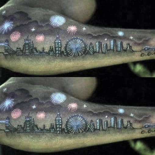 Distinctive Fireworks Tattoos For Men