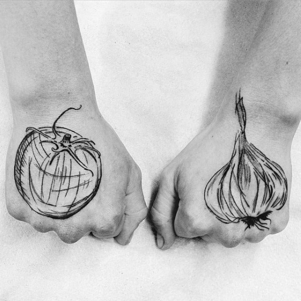 Distinctive Garlic Tattoos For Men