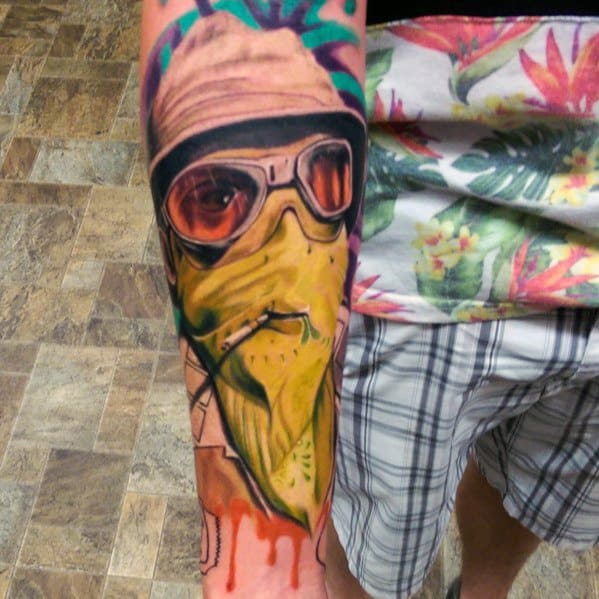 Distinctive Hunter S Thompson Tattoos For Men