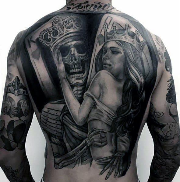 Distinctive Male Awesome Back Tattoo Designs