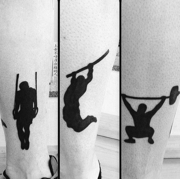 Distinctive Male Barbell Tattoo Designs