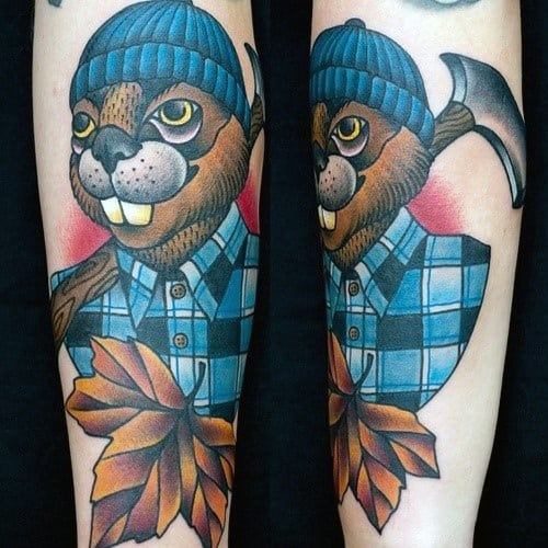 Distinctive Male Beaver Tattoo Designs