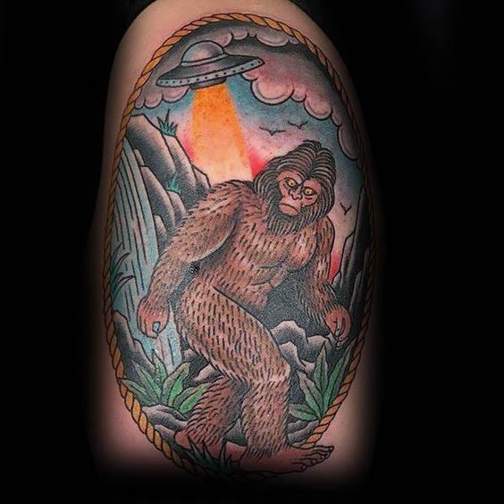 Distinctive Male Bigfoot Tattoo Designs