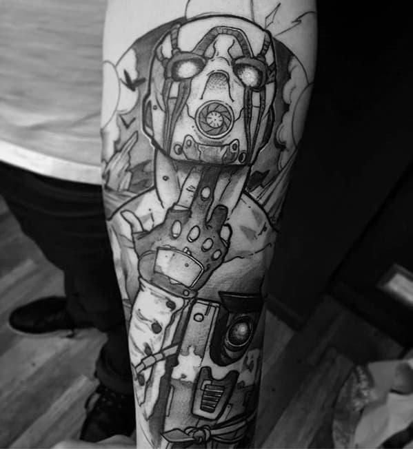 Distinctive Male Borderlands Tattoo Designs