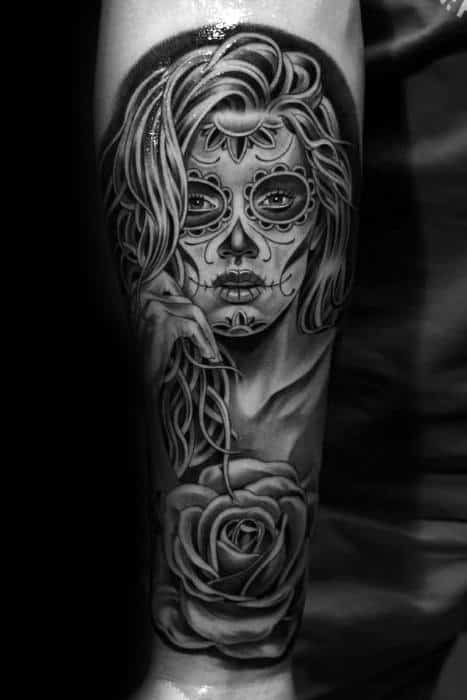 Distinctive Male Catrina Tattoo Designs