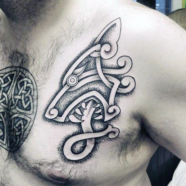 Distinctive Male Celtic Wolf Tattoo Designs