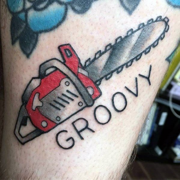 Distinctive Male Chainsaw Tattoo Designs