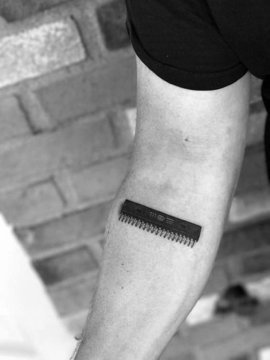 Distinctive Male Computer Memory Ram Stick Inner Forearm Tattoo Designs