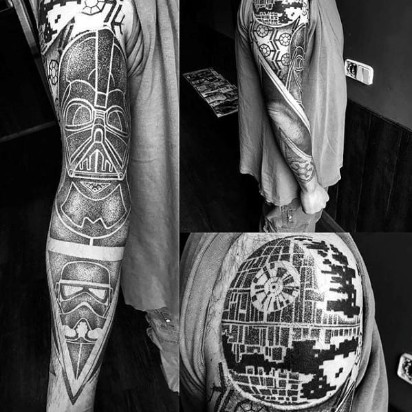 60 death star tattoo designs for men star wars ideas. Black Bedroom Furniture Sets. Home Design Ideas