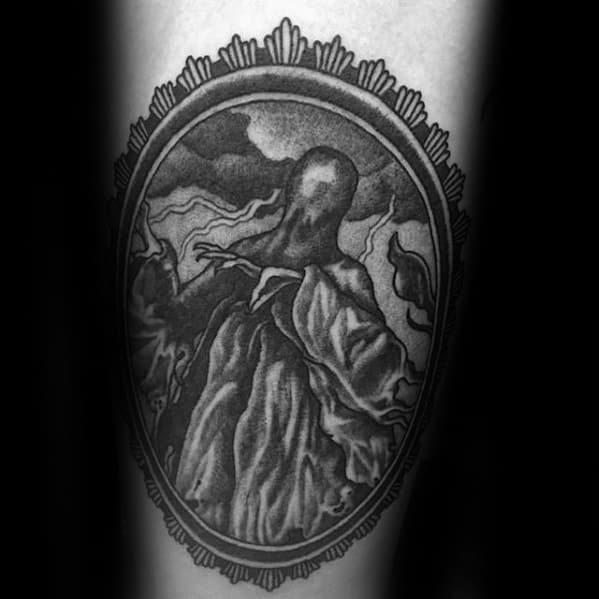 Distinctive Male Dementor Tattoo Designs