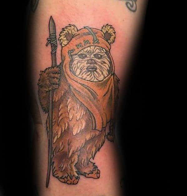 Distinctive Male Ewok Tattoo Designs