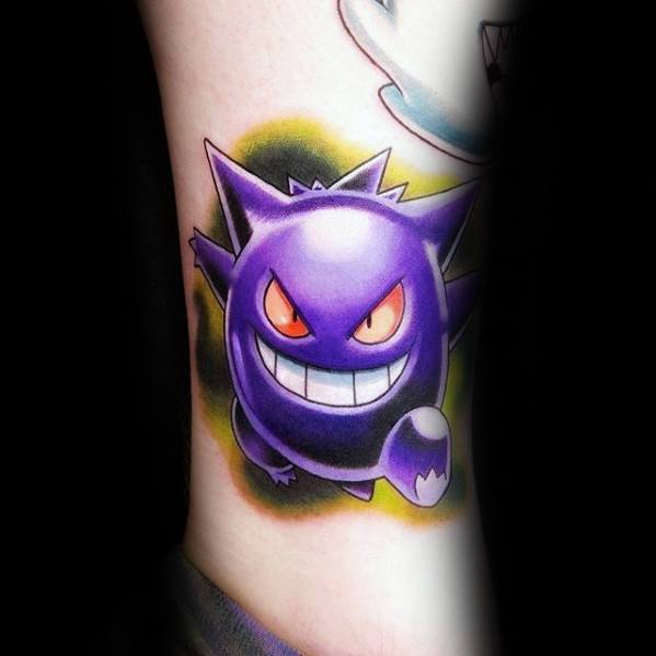 Distinctive Male Gengar Tattoo Designs