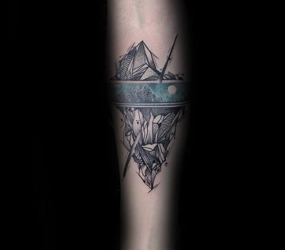 Distinctive Male Iceberg Tattoo Designs