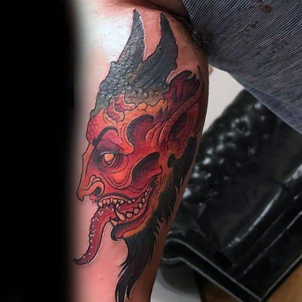 Distinctive Male Krampus Tattoo Designs