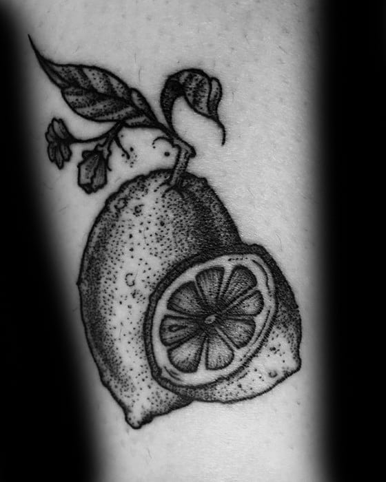 50 lemon tattoo designs for men citrus fruit ink ideas. Black Bedroom Furniture Sets. Home Design Ideas