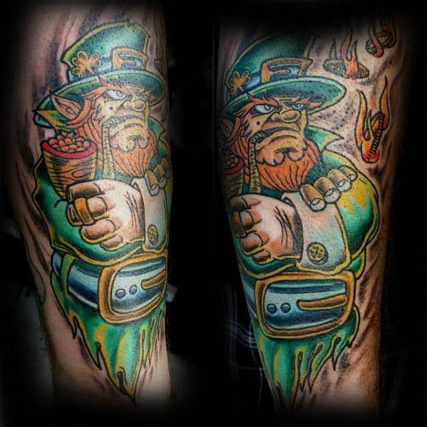 Distinctive Male Leprechaun Tattoo Designs